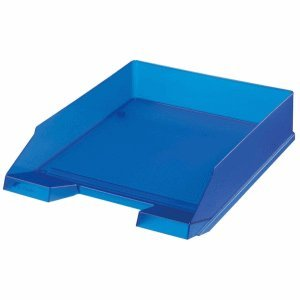 Herlitz 10493716Becken Aufbewahrungsschuppen Büro–Becken Aufbewahrungsschuppen Büro (blau, transparent, Kunststoff)
