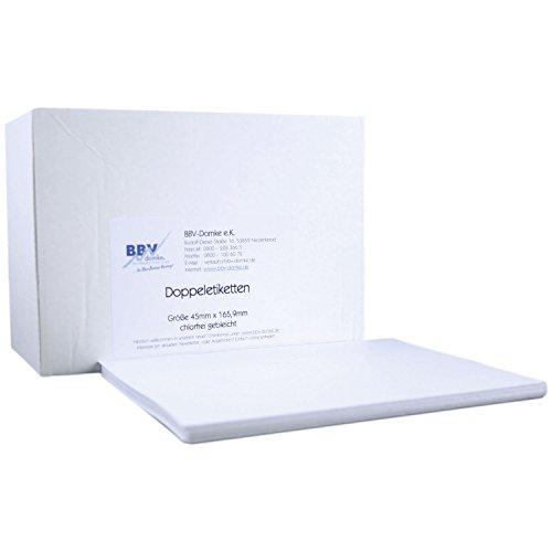 BBV-Domke Frankieretiketten (doppelt, 45x165,9 mm, 1000 Stück) Etiketten passend für Frankiermaschinen aller Hersteller