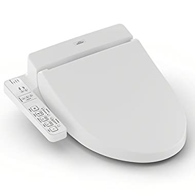 TOTO SW2034#01 C100 WASHLET Electronic Bidet Toilet Seat with PreMist, Elongated, Cotton White