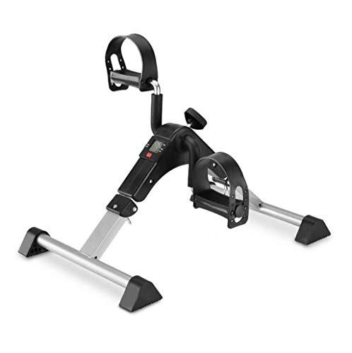 JGWHW Pedaltrainer Tragbares Klapp-Fitnesspedal Stationäres Heimtrainer for Arme Beine Physiotherapie mit Kalorienzähler 53,5 * 37 * 39,5 cm
