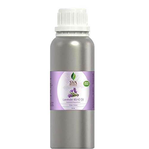 SVA Organics Lavender 40/42 Essential Oil (16 Oz)- Perfect for Soap, Candles, Perfume, and Cosmetics.