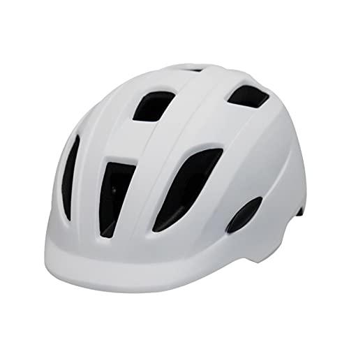 FGJH Ciclismo Niños Bicicleta Bicicleta Casco Scooter Cabeza de Seguridad Circunferencia Tamaño Ajustable 48-52cm 824 (Color : White, Size : M)