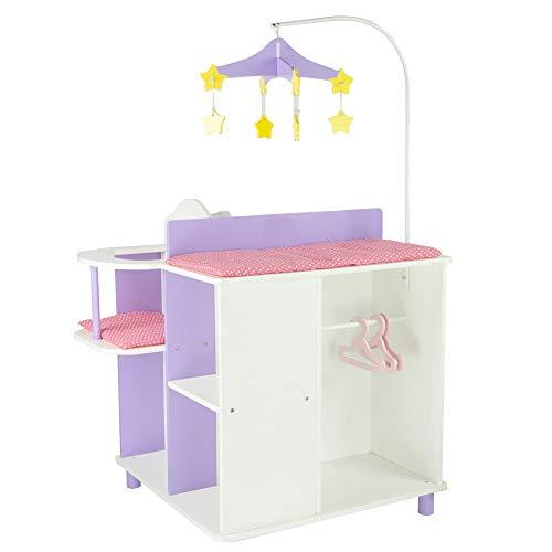 Table à Langer Poupon poupée Little Princess Rangement Meuble Bois Jeux TD-0203A