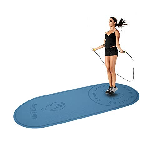 """Jump Rope Mat,24""""63""""1/4""""-Designed mat for Indoor Jumping-Extends The Life of Jump Rope-Protect Your Indoor Floor-Absorbs The Impact on Joints,Knees and Back (Sky Blue)"""