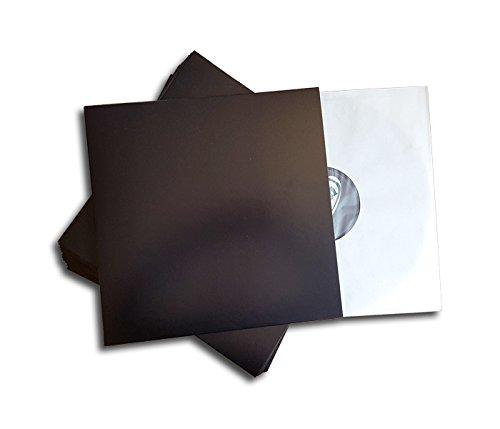 LP Plaat Cover zwart Protected (25 stuks)