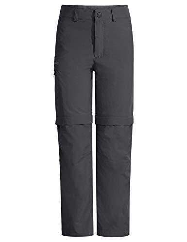 VAUDE - Pantaloni da bambino Detective Antimos Zo, unisex, Unisex - Bambini, Pantaloni, 42260, Nero, 122-128