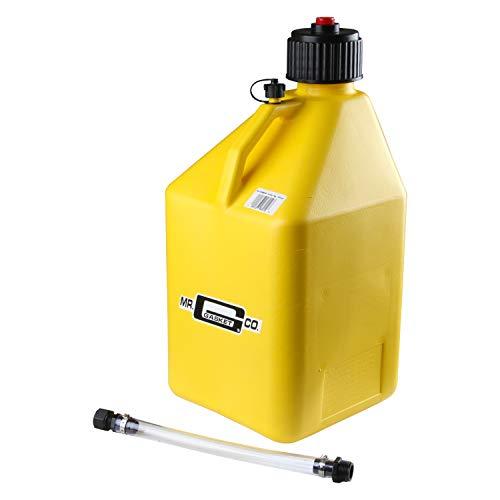 Mr. Gasket 36951G Utility Jug 5 Gal Yellow W/Hose Square