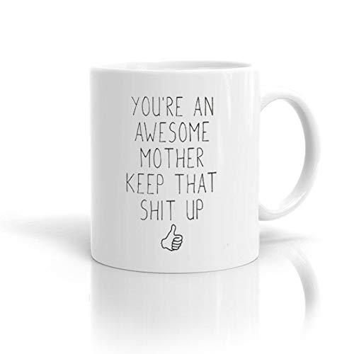 Lplpol Teetasse – I'm The Mummy Tasse, Familiengeschenk, Keramik, Geschenk für neue Mütter, Baby, perfekt zum Verschenken oder Sammeln, keramik, Farbe 09, 15 oz