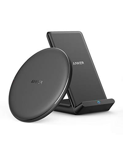 【2個セット】Anker PowerWave 10 Pad & Stand(改善版) ワイヤレス充電器 Qi認証 iPhone 12 / 12 Pro Galaxy各種対応 最大10W出力 (ブラック)