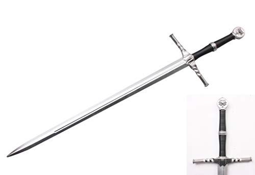 Blazing Steel Medieval Cosplay Costume Foam Sword Two Hand Sword (Steel)