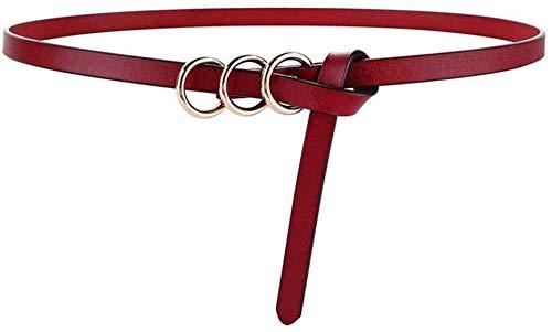 Riemen Women Waist Belt Fashion Circle Knotted Thin Belt Dames Wild Casual Belt Female Retro leer met Rok Belt - Eigen It, You Are The Most Fashionable Pioneer Dit Jaar