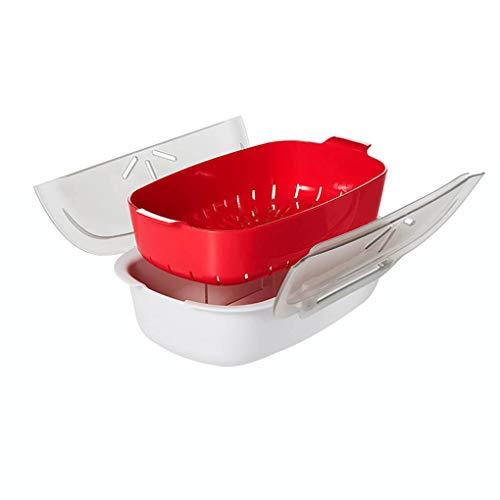 Guangcailun Microondas sosa Vapor para microondas de Cocina el Cocinero Removble casa Cocina envase de alimento