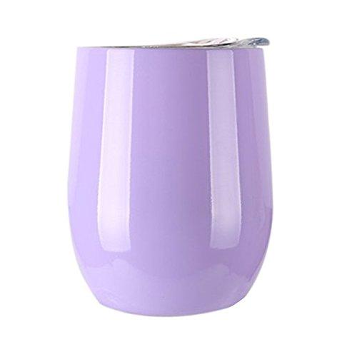 255,1 gram en acier inoxydable Tasse de vin avec couvercle, à double paroi isotherme Gobelet de vin sans BPA pour bar Party Vin Cocktail Boisson