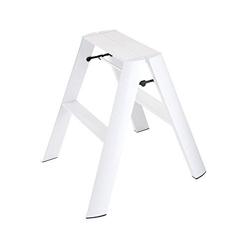 ルカーノ2段 | 踏み台 脚立 はしご ハシゴ 踏台 ステップ スツール グッドデザイン 軽量 DIY(C066)