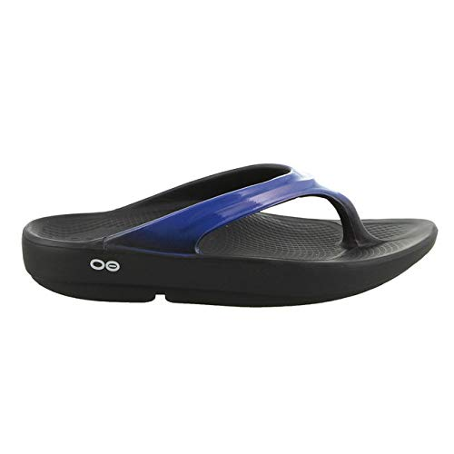 OOFOS - Women's OOlala - Post Exercise Active Sport Recovery Thong Sandal - Jet Blue - W9