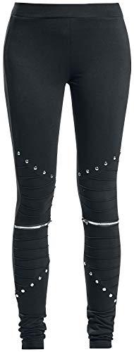 Pantalones Leggings largos Wind de Vixxsin de estilo Punk G/ótico Wind con cremallera el/ástica y remaches