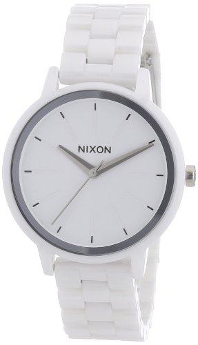 Nixon Damen-Armbanduhr The Ceramic Kensington White Analog Quarz Keramik A261100-00