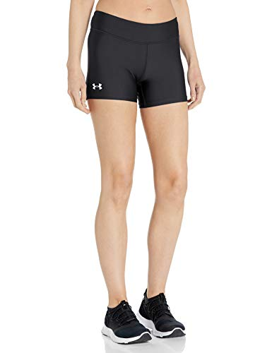 """Under Armour Womens On The Court 4"""" Shorts,Black (001)/White, Small"""