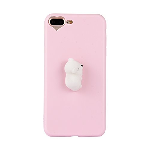 Shiningxie New For iPhone 8 Plus & 7 Plus 3D White Cat Pattern Squeeze Relief Squishy Dropproof Protective Back Cover Case