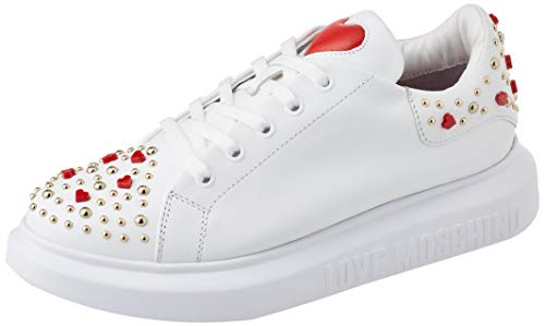 Love Moschino SS21, Baskets Femme, Blanc, 38 EU