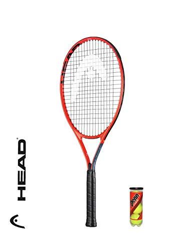 """HEAD Radical Junior - Raqueta de tenis + 3 pelotas de tenis (varias opciones) (19"""" x 1 raqueta)"""