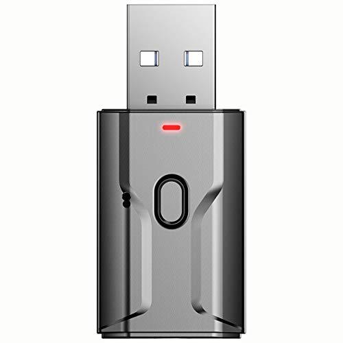 Nihlsen Cuatro en uno receptor de audio inalámbrico transmisor coche manos libres llamadas USB