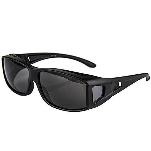SHEEN KELLY Mit Seitenscheibe treibende Linse Wrap Schutzglas UV400 Brille Überbrille für Brillenträger Fit-over rechteckige Passform über Gläser Sonnenbrille