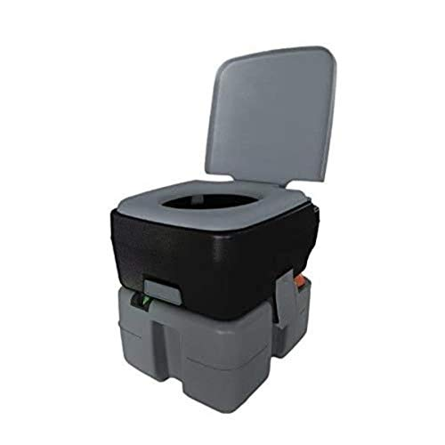 Reliance Products Flush-N-Go 3320 Portable Flushing Toilet 2.5 Gal, Black/Grey (9233-20)