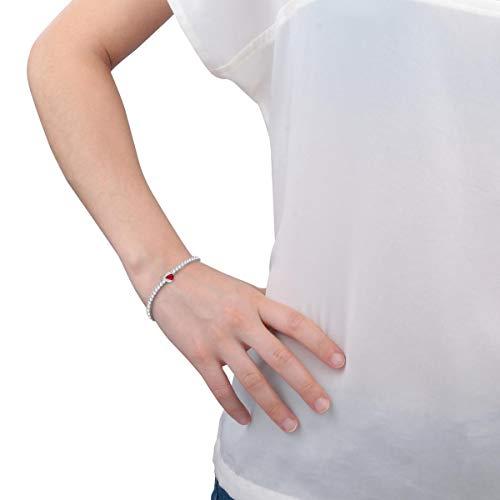 Morellato Bracciale da donna, Collezione Tesori, in argento 925‰, rubino sintetico, zirconi, bianco - SAIW66