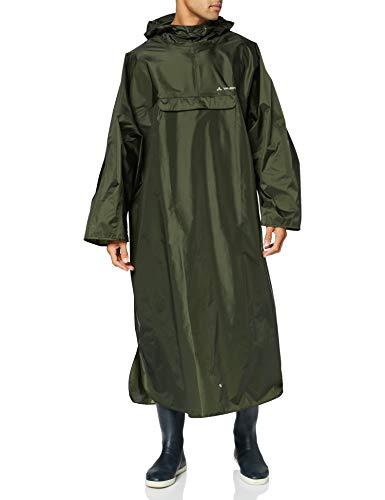 VAUDE 050394035300 ponczo męskie Hiking Backpack Poncho, oliwkowe, S/M, 050394035300