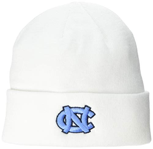 Top of the World Mens Cuffed Knit White Icon Hat