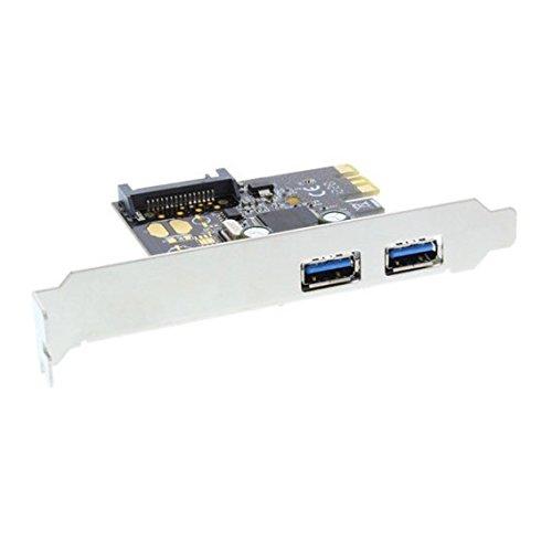 InLine 76666L Schnittstellenkarte, 2x USB 3.0, PCIe, mit SATA Strom, inkl. Low-Profile Slotblech