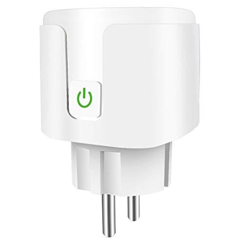 CareMont Toma de Adaptador de Enchufe WiFi Tuya Temporizador de Voz de la AplicacióN Life para Home Amazon Alexa Light Monitor de EnergíA de Pared Enchufe de la EU