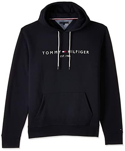 Tommy Hilfiger Tommy Logo Hoody Felpa, Blau (Sky Captain 403), Medium Uomo