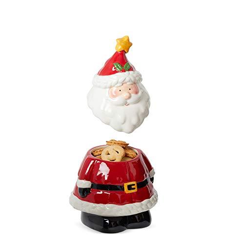 D-Mail Biscottiera Natalizia In Ceramica - Babbo Natale