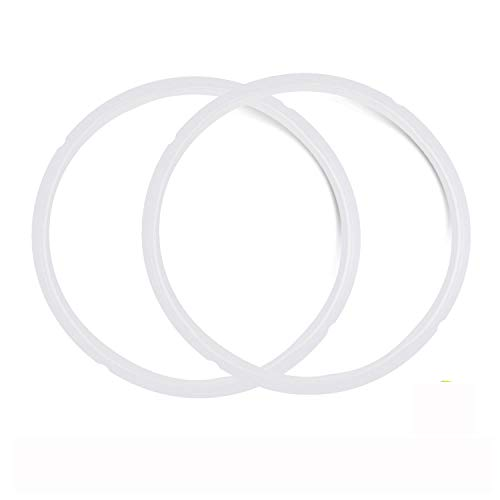 2-Pack Replacement Seals Gaskets for Pressure Cooker Silicone Sealing Rings for Instant Pot 5Q Fits IP-DUO60, IP-LUX60, IP-DUO50, IP-LUX50, Smart-60, IP-CSG60 and IP-CSG50