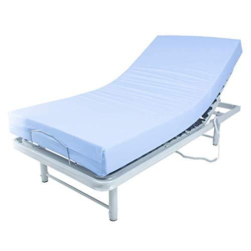 LTDM Cama geriátrica articulada con colchón geriátrico viscoelástico y barandillas Plegables