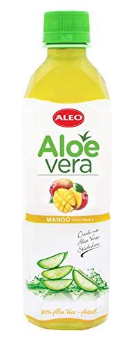 ALEO Aloe Vera Getränk mit Mangogeschmack (12 Fl.zu je 0,5L) inkl.Pfand