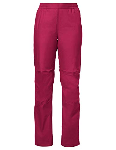VAUDE Damen Drop Pants II Regenhose für Radsport, crimson red, 36, 049669770360