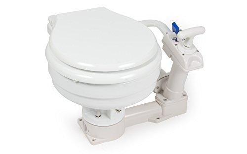 wellenshop Boot WC mit Handpumpe Bootstoilette Schiffstoilette Bordtoilette Toilette