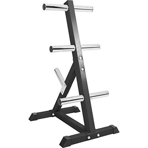 GORILLA SPORTS® Hantelscheibenständer mit 7 Scheibenaufnahmen 50/51 mm Schwarz - bis 350 kg belastbar