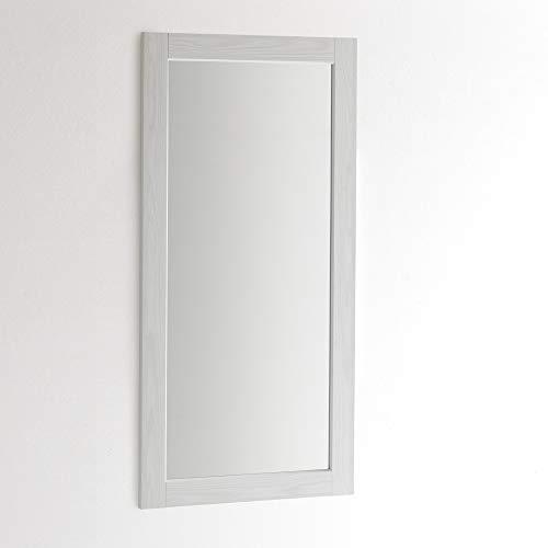 specchio da parete 60x120 ARHome Specchiera Parete 120 x 60 Bianco Frassinato
