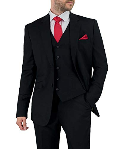 Cavani Herren Marco 3-teiliger Anzug (Regular, EU 58 Brustumfang/EU 52 Bundumfang)