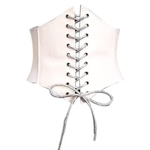 Corsé para mujer, cinturón de piel para vestidos, steampunk, bajo el pecho