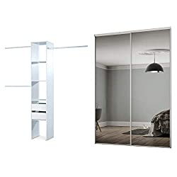 Fit openings of H2260 x W1499mm Includes 2x762mm doors and a 1803mm top and bottom track set Made in the UK, Safety backed glass BSEN12600 Requires self assembly Contains 1 Basix Interior plus 1 Basix Drawer Pack