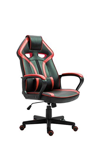 Gaming Stuhl Chefsessel Casino von Intra Direct Kunstleder schwarz/rot