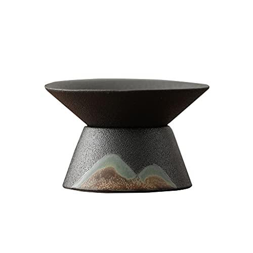 Colador de té Colador de té de cerámica Set Kung Fu Juego de té Chino Retro Zen Tea Colador de té Residuos de té Filtrado de té Separador de Agua (Color : A)