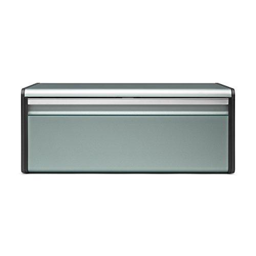 Brabantia Fall Front Bread Bin, Breadbox, Accessories, Metall, Metallic Mint, 484322