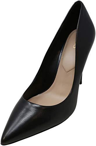 ALDO Women's Stessy Dress Pump, Black Smooth, 11