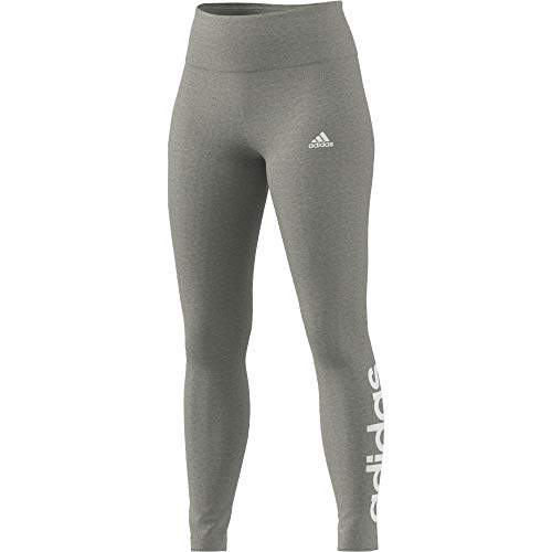adidas GL0638 W Lin Leg Leggings Womens Medium Grey Heather/White M
